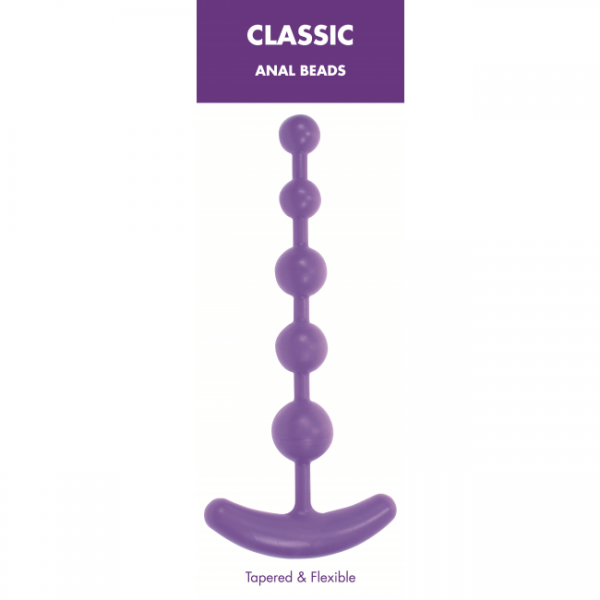 Classic Anal Beads Purple Kinx