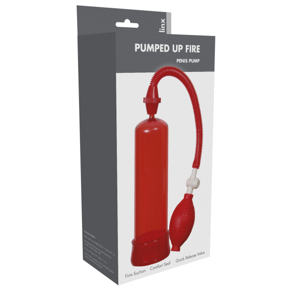 Pumped Up Fire Penis Pump Linx Red