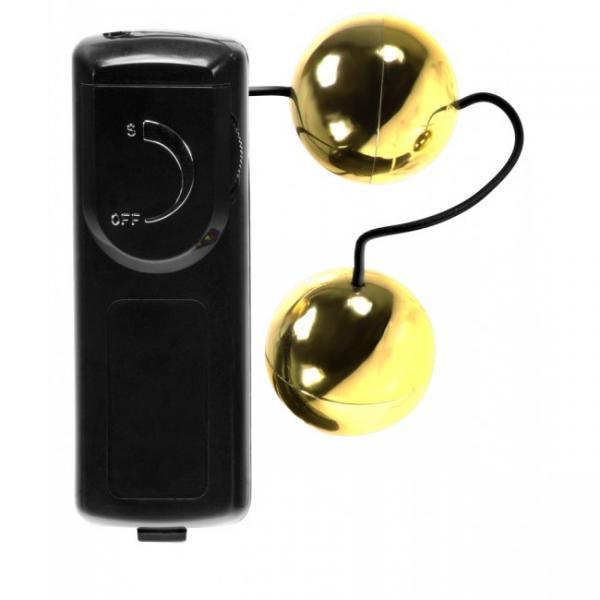 Orgasm Vibrating Balls Gold Minx