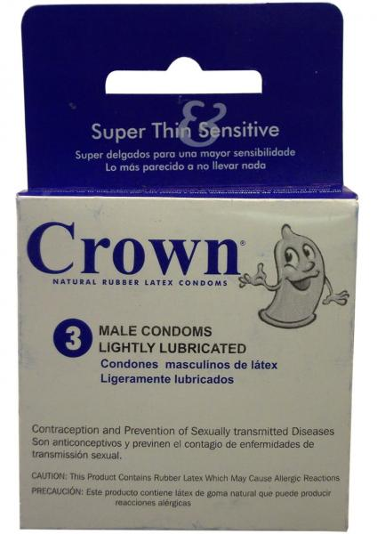 Crown Condom Lightly Lubricated 3 Pack