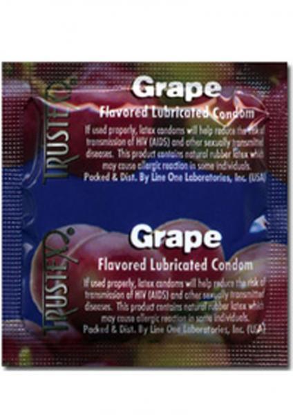 Trustex Condom Grape Flavored Lurbricated 3 Pack