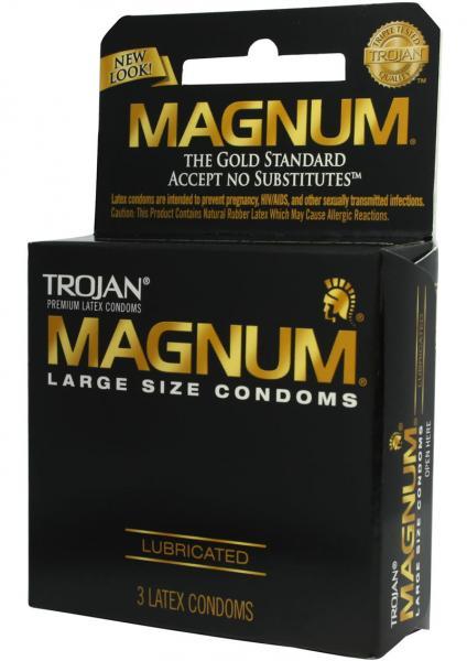 Trojan Condom Magnum Large Size Lubricated 3 Pack