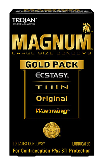 Trojan Condom Magnum Gold Collection Large Size Lubricated 10 Pack