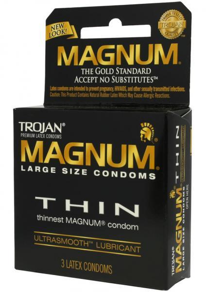 Trojan Magnum Thin Lubricated Condoms - 12ct : Target