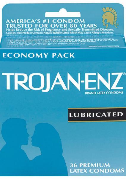 Trojan Condom Enz Lubricated 36 Pack