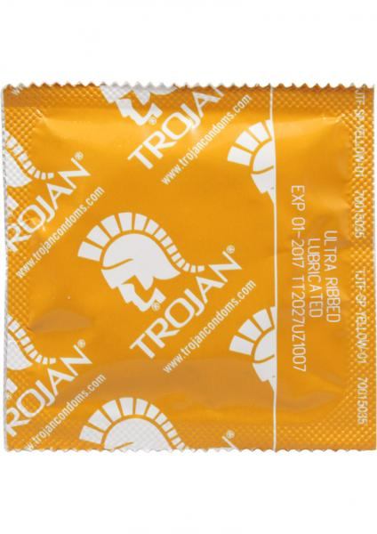 Trojan Condom Ultra Ribbed Lubricated 36 Pack
