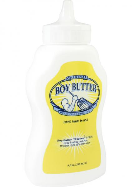 Boy Butter Oil Based Lubricant Original 9 Ounce