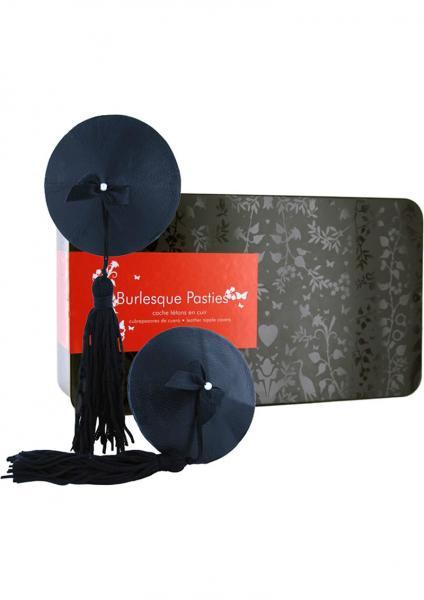 Burlesque Classic Tasseled Pasties Black
