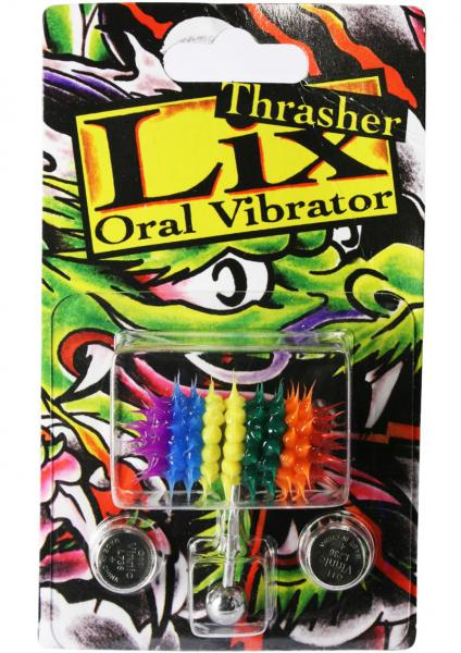 Lix Thrasher Oral Vibrator Rainbow Pierced Tongue