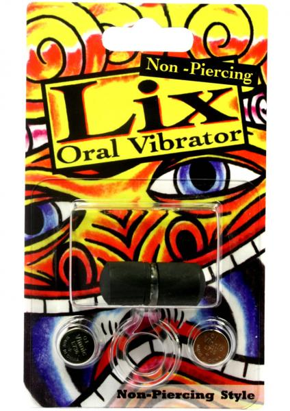 Lix Non Piercing Oral Vibrator Black
