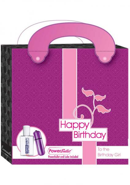 Esensuals Happy Birthday Power Bullet And Lube Kit