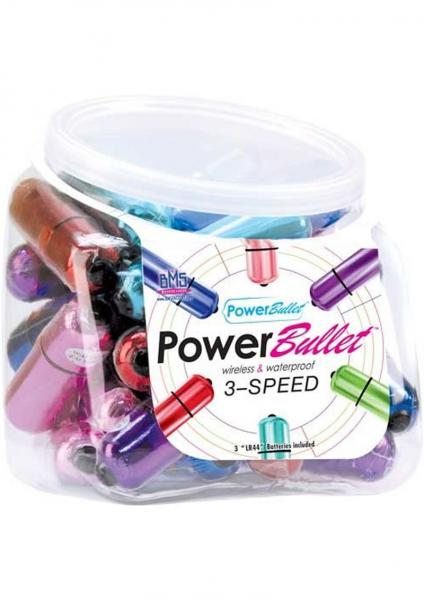 Power Bullet Waterproof Assorted Colors 30 Per Bowl