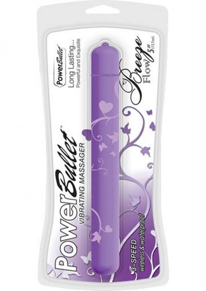 Power Bullet Breeze Flow Purple 5 inches Vibrator