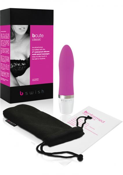 Bcute Classic Silicone Massager Waterproof 3 Inch Rose