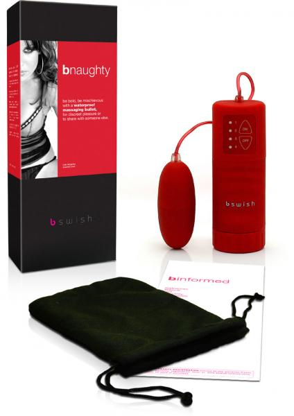 Bnaughty Vibrating Bullet Waterproof 2.5 Inch Red