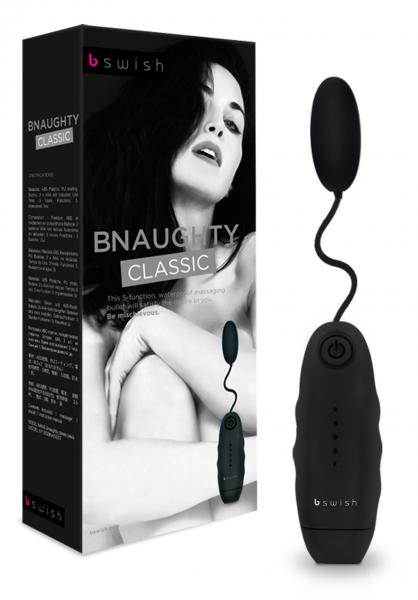 Bnaughty Vibrating Bullet Waterproof 2.5 Inch Black