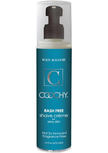 Body Boudoir Coochy Rash Free Shave Creme Fragrance Free 16 Ounce