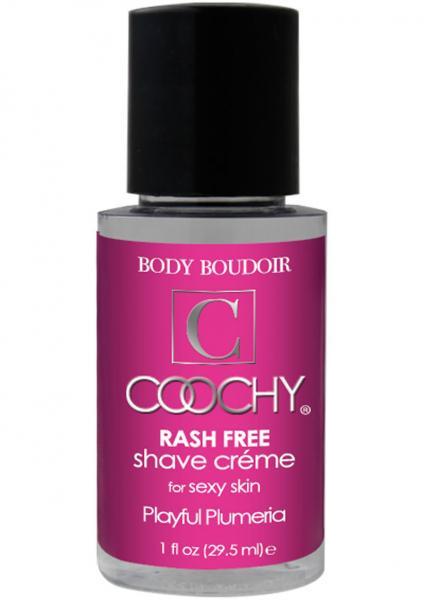Body Boudoir Coochy Rash Free Shave Creme Plumeria 1 Ounce