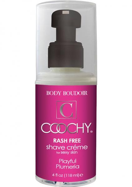 Body Boudoir Coochy Rash Free Shave Creme Plumeria 4 Ounce