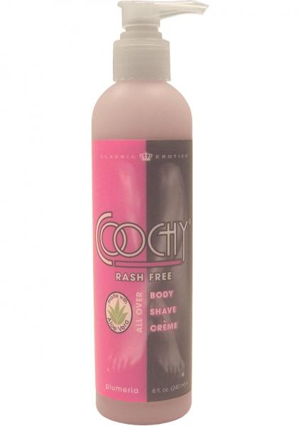 Body Boudoir Coochy Rash Free Shave Creme Plumeria 8 Ounce