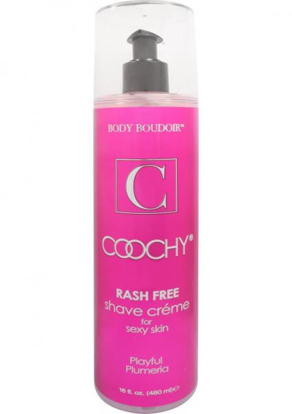 Body Boudoir Coochy Rash Free Shave Creme Plumeria 16 Ounce