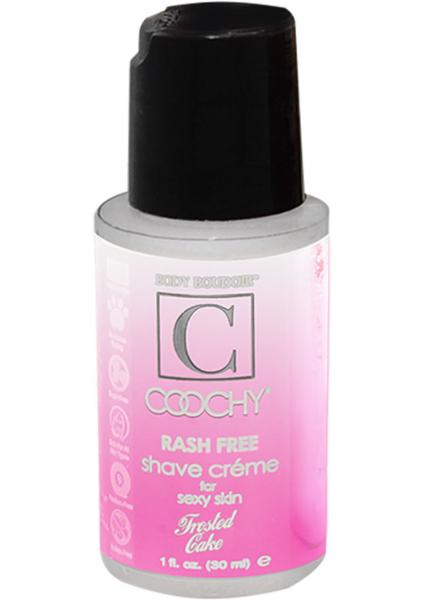 Body Boudoir Coochy Rash Free Shave Creme Frosted Cake 1 Ounce
