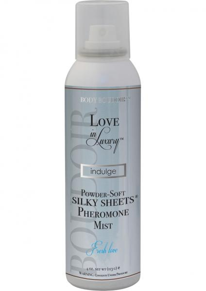 Love In Luxury Indulge Powder Soft Silky Sheet Pheromone Mist Fresh Love 4 Ounce