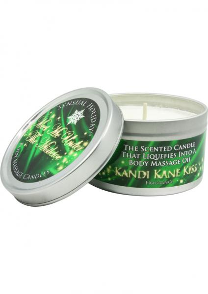 Sensual Holiday Meet Me Under The Mistletoe Body Massage Candle 4 Ounce