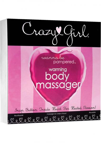 Crazy Girl Wanna Be Pampered Warming Body Massager Pink