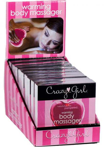 Crazy Girl Heart Warming Body Massagers Display 10 Piece