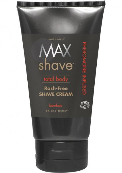 Max 4 Men Max Shave Total Body Pheromone Infused Rash Free Shave Cream Bamboo 4 Ounce