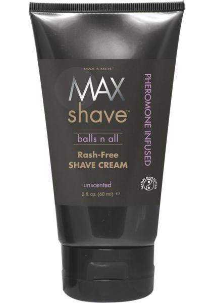 Max 4 Men Max Shave Balls N All Pheromone Infused Rash Free Shave Cream Unscented 2 Ounce