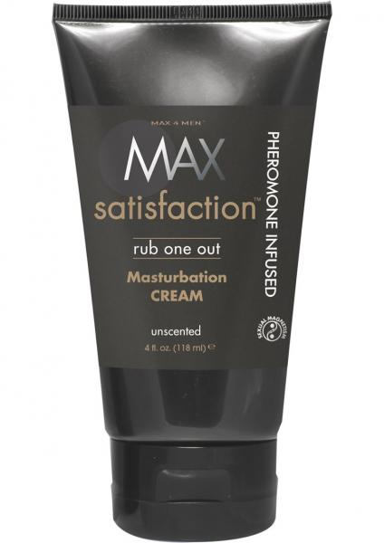 Max 4 Men Max Satisfaction Rub One Out Pheremone Infused Masturbation Cream Unscented 4 Ounce