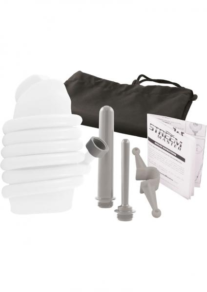 Streem Master The Ultimate Anal Douche Kit Silicone White