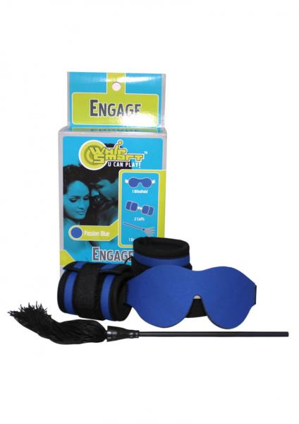 Whip Smart Engage Bondage Kit Passion Blue