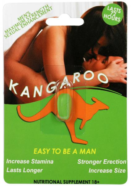 Kangaroo For Him Sexual Enhancement Green 1 Pill Count 30 Piece Display