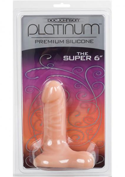 Platinum Premium Silicone The Super 6 Inch White