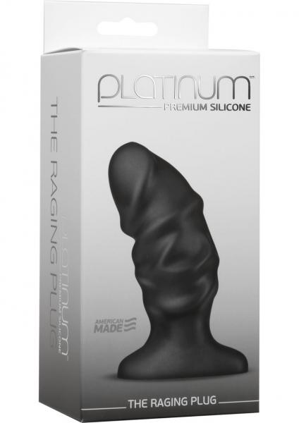 Platinum Premium Silicone The Raging Anal Plug Black 4.3 Inch