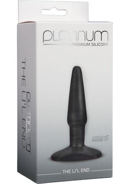 Platinum Premium Silicone Butt Plug Lil End Charcoal