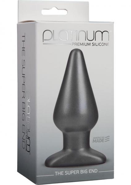 Platinum Premium Silicone The Super Big End Large Plug Charcoal