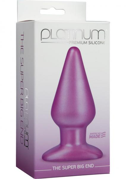 Platinum Silicone The Super Big End Large Anal Butt Plug Purple