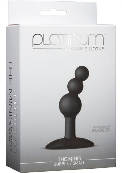 Platinum Silicone The Minis Bubble Butt Plug Black Small