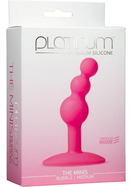 Platinum Silicone The Minis Bubble Butt Plug Pink Medium