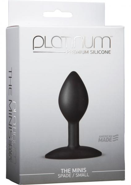 Platinum Silicone The Minis Spade Butt Plug Black Small