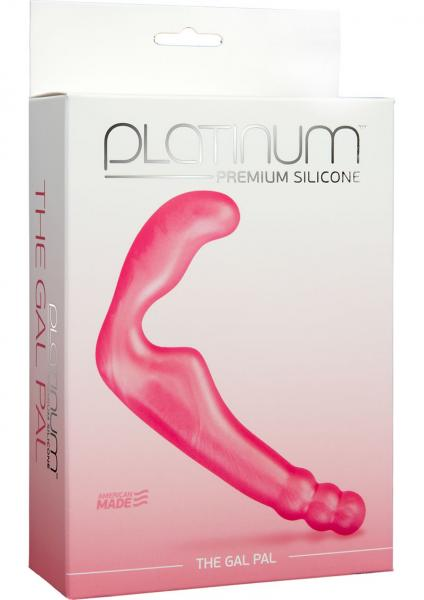 Platinum Premium Silicone The Gal Pal Strapless Strap-On G-Spot Pink 6.2 Inch