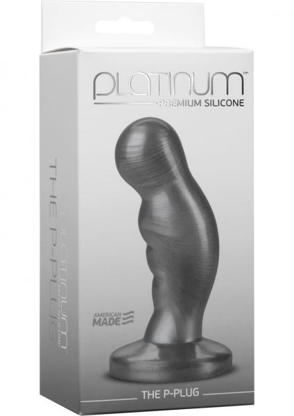Platinum Silicone The P-Plug Anal Plug Prostate Massager Charcoal