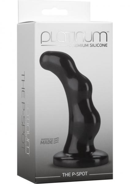 Platinum Silicone The P-Spot Anal Plug Prostate Massager Black