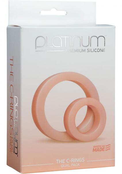 Premium Silicone C Rings Double Pack White