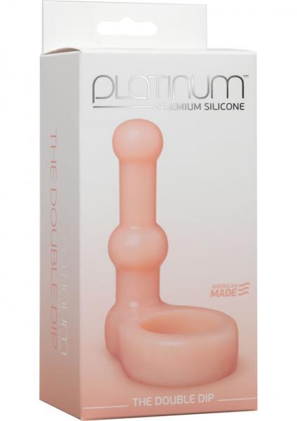 Premium Silicone Double Dip C Ring Beige