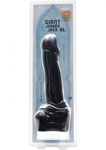 Giant Jumbo Jack XL Dong Sil A Gel 15 Inch Black